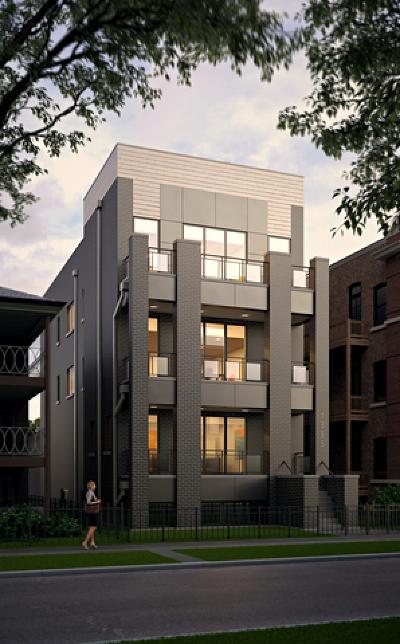 Chicago Condo/Townhouse New: 1355 West Winnemac Avenue #3