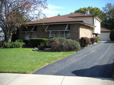 Alsip  Single Family Home For Sale: 13033 South McDaniels Court