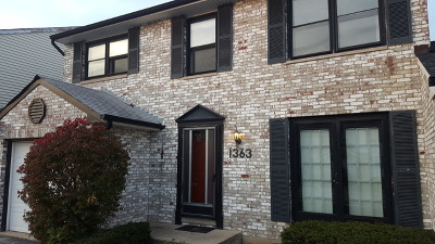 Carol Stream Condo/Townhouse For Sale: 1363 Georgetown Drive