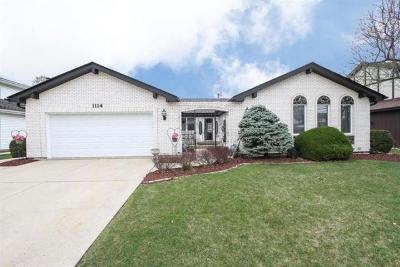 Schaumburg Single Family Home For Sale: 1114 Beach Comber Drive