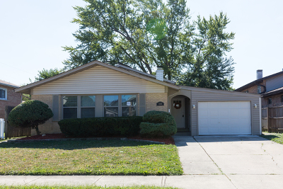 Alsip  Single Family Home For Sale: 3405 West 124th Place