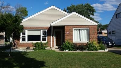 Evergreen Park Single Family Home For Sale: 8729 South California Avenue