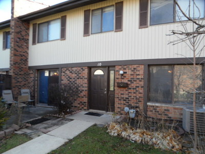 Downers Grove Condo/Townhouse For Sale: 10 Tower Court #10