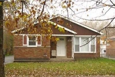 Dolton Single Family Home For Sale: 14838 Wabash Avenue