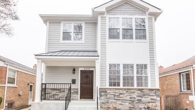 Chicago Single Family Home New: 6643 North Oconto Avenue