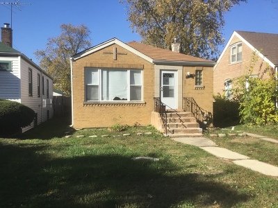 Chicago Single Family Home New: 12846 South Lowe Avenue