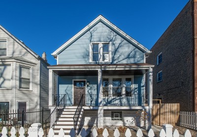 Chicago Single Family Home New: 3322 West Berteau Avenue