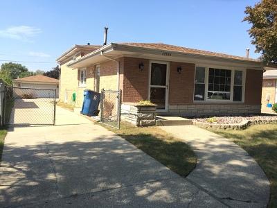Alsip  Single Family Home For Sale: 12224 South Ridgeway Avenue