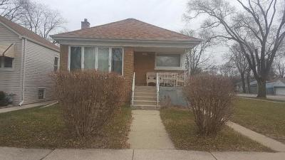 Calumet Park Single Family Home For Sale: 12457 South Elizabeth Street