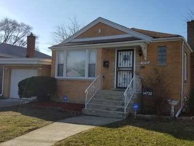 Dolton  Single Family Home For Sale: 14732 La Salle Street