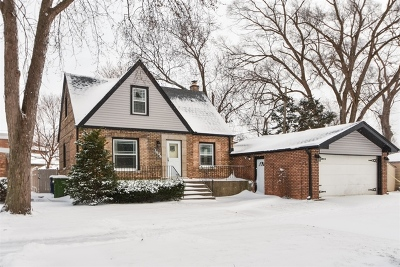 Evergreen Park  Single Family Home New: 3444 West Clark Drive