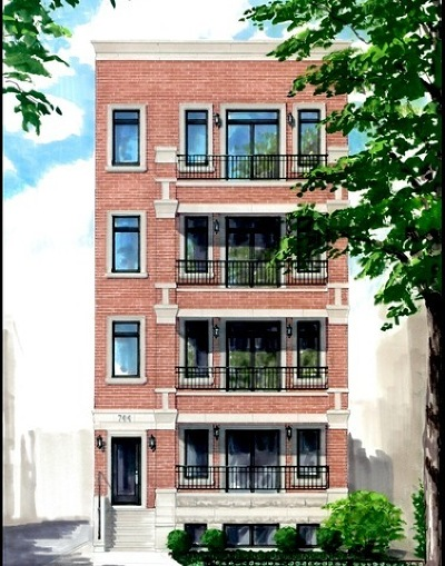 Chicago Condo/Townhouse New: 744 West Buckingham Place #4