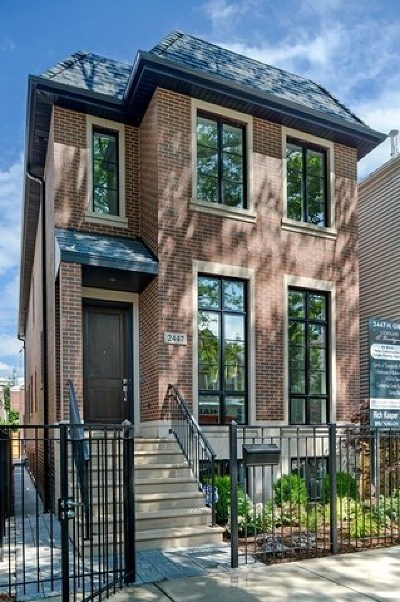 Chicago Single Family Home New: 2447 North Greenview Avenue