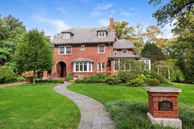 Wilmette Single Family Home New: 1216 Chestnut Avenue