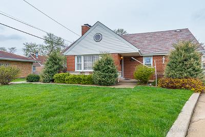 Alsip  Single Family Home For Sale: 11628 South Kilbourn Avenue