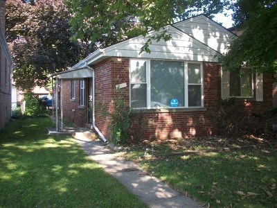 Riverdale Single Family Home For Sale: 14128 South Michigan Avenue