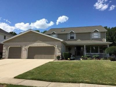 Homer Glen Single Family Home Price Change: 13516 West Oakwood Court