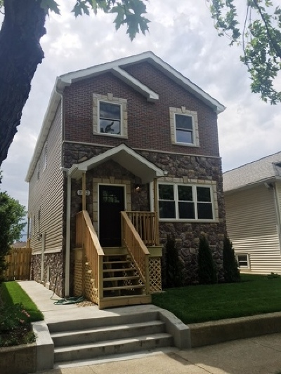 Chicago Single Family Home New: 3742 North Osceola Avenue