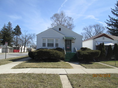 Calumet Park Single Family Home For Sale: 12401 South Aberdeen Street