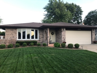 Homer Glen  Single Family Home For Sale: 14341 South Heather Lane