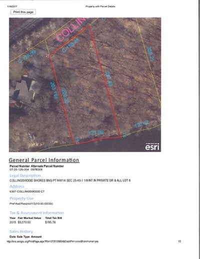 Rockford Residential Lots & Land For Sale: 6307 Collingswood Court