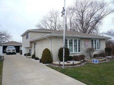Alsip  Single Family Home For Sale: 11844 South Leamington Avenue