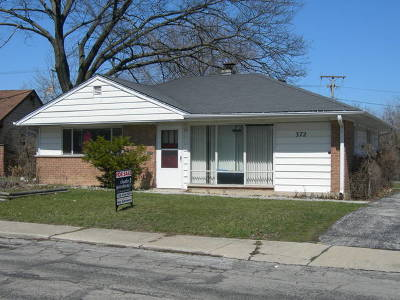 Park Forest Single Family Home New: 372 Miami Street