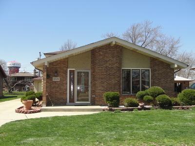 Alsip  Single Family Home For Sale: 11820 South Leamington Avenue