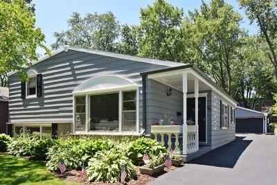 Glen Ellyn Single Family Home For Sale: 70 North Parkside Avenue