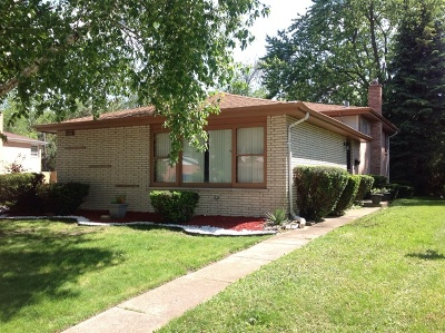 South Holland Single Family Home Re-Activated: 15650 Mutual Terrace
