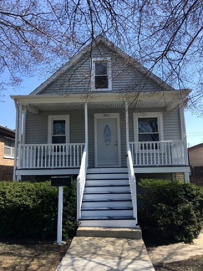 Chicago Single Family Home New: 3411 North Narragansett Avenue