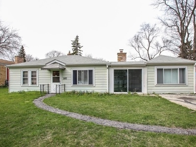 Wood Dale Single Family Home New: 357 Itasca Street