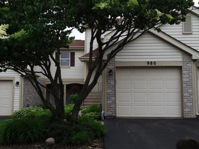 Hoffman Estates Condo/Townhouse For Sale: 980 Butter Creek Court #980
