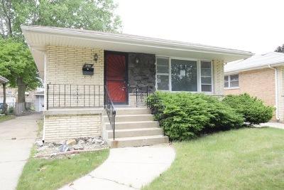 Calumet City  Single Family Home For Sale: 398 Jeffery Avenue