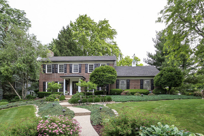 Downers Grove Single Family Home Price Change: 1300 Brookside Lane