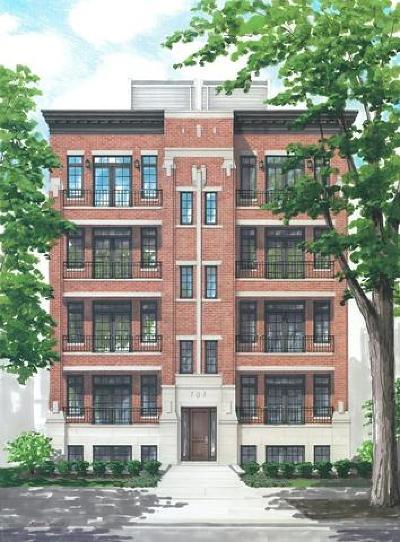 Condo/Townhouse New: 711 West Buckingham Place #1W