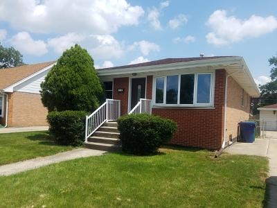 Chicago Ridge  Single Family Home For Sale: 10341 Barnard Drive