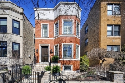 Chicago Single Family Home New: 1208 West Newport Avenue