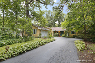 Warrenville Single Family Home Price Change: 28w520 Woodland Road