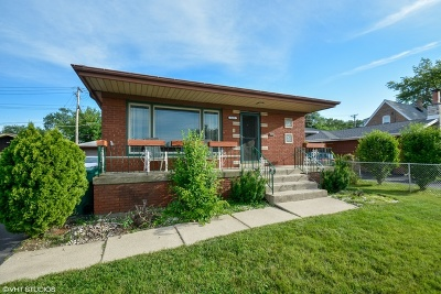 Alsip  Single Family Home For Sale: 3635 West 115th Street