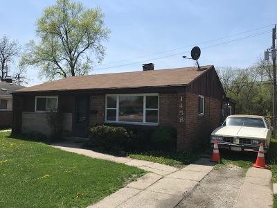 Calumet City Single Family Home For Sale: 1458 Burnham Avenue
