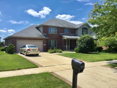 Tinley Park Single Family Home For Sale: 8813 Glenshire Street