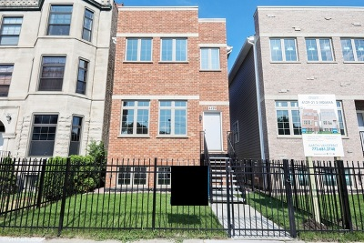 Chicago Single Family Home New: 4129 South Indiana Avenue