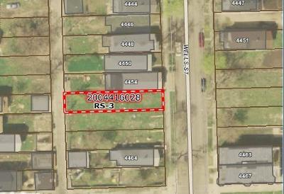Chicago Residential Lots & Land For Sale: 4456 South Wells Street