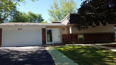 Bolingbrook Single Family Home New: 457 Galahad Road