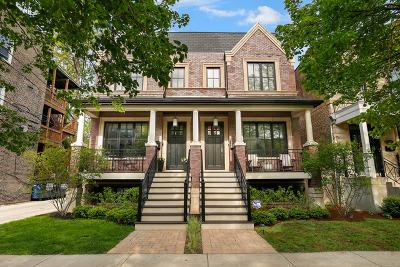Roscoe Village Condo/Townhouse For Sale: 3943 North Hoyne Avenue