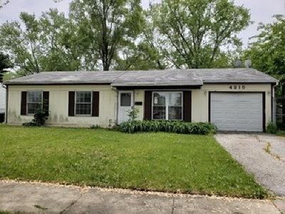Richton Park Single Family Home For Sale: 4215 Poplar Avenue