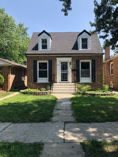 Riverdale Single Family Home For Sale: 14509 South Wabash Avenue