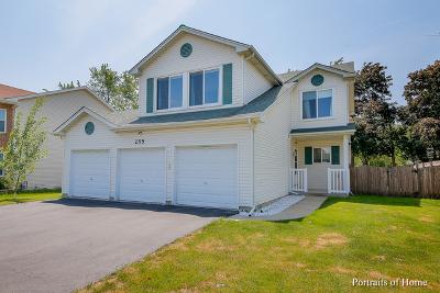 Glendale Heights Single Family Home For Sale: 255 East Fullerton Avenue