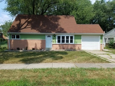 Park Forest Single Family Home New: 416 Watseka Street